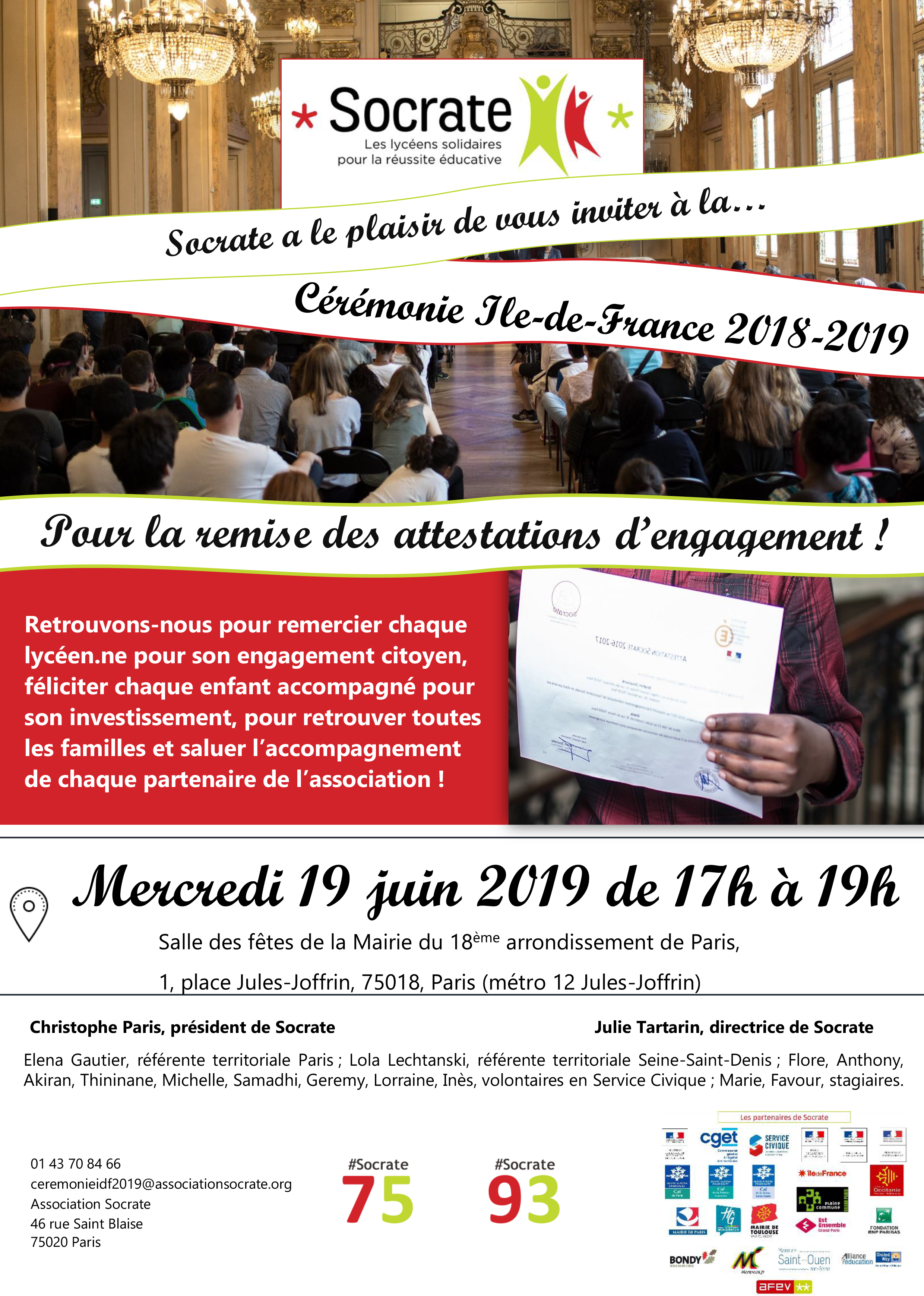 Cérémonie Socrate Ile-de-France