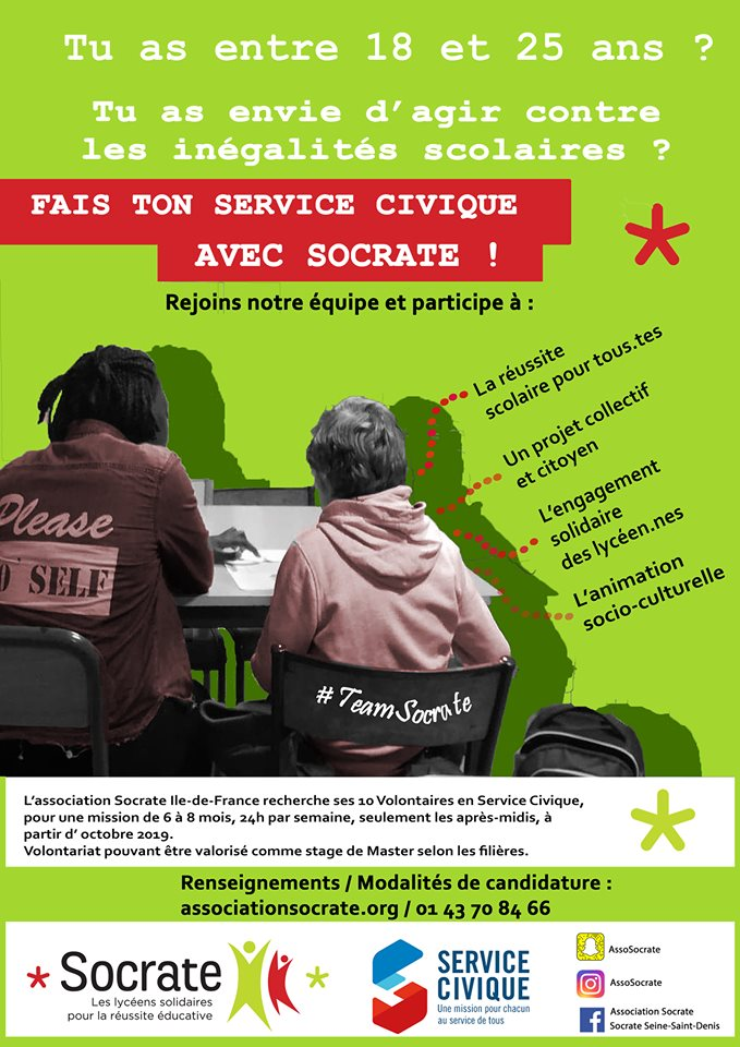 Recrutement de Services Civiques : campagne lancée !