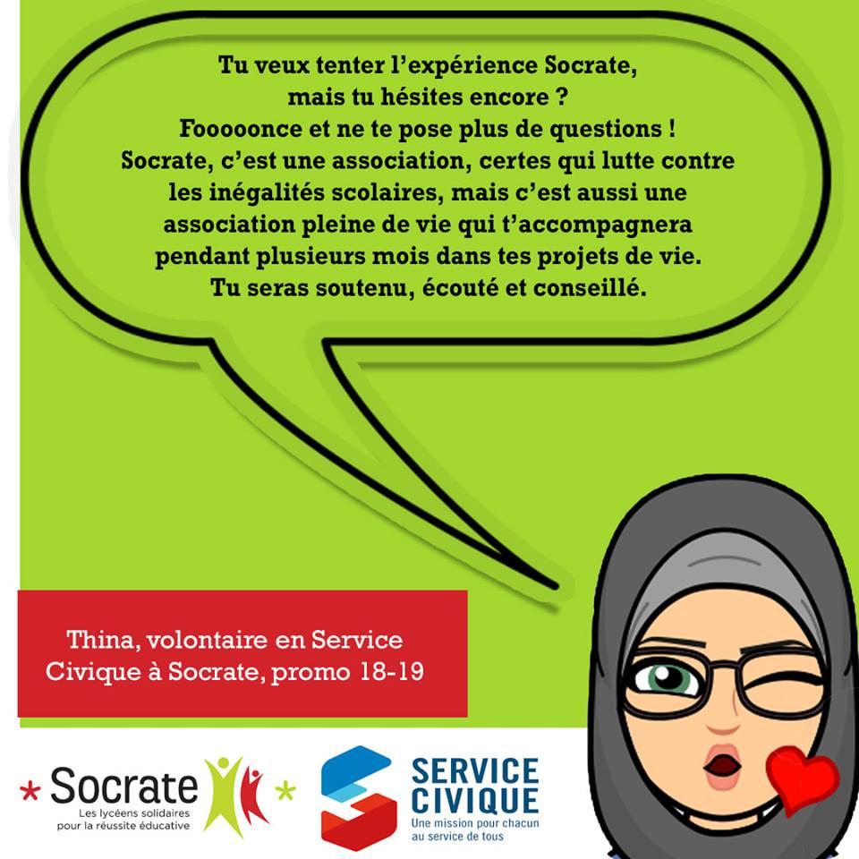 «Mon Volontariat chez Socrate», par Thina