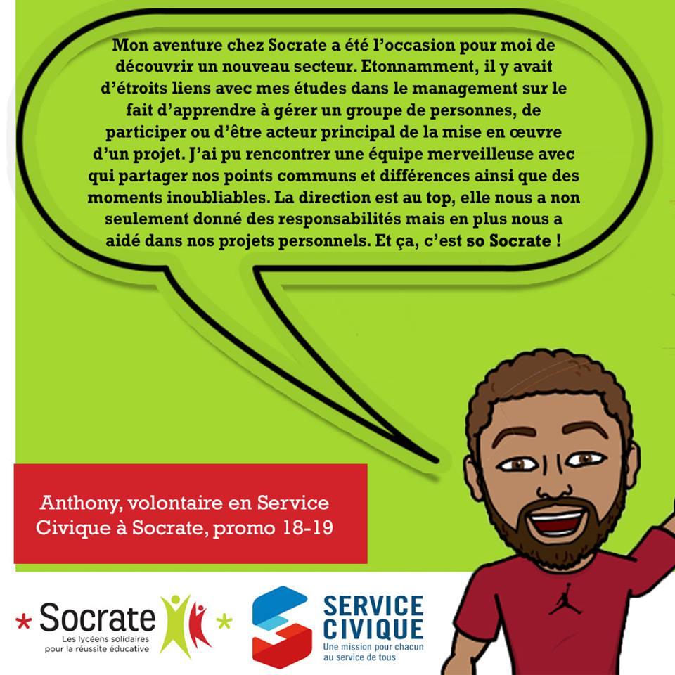 «Mon Volontariat chez Socrate», par Anthony